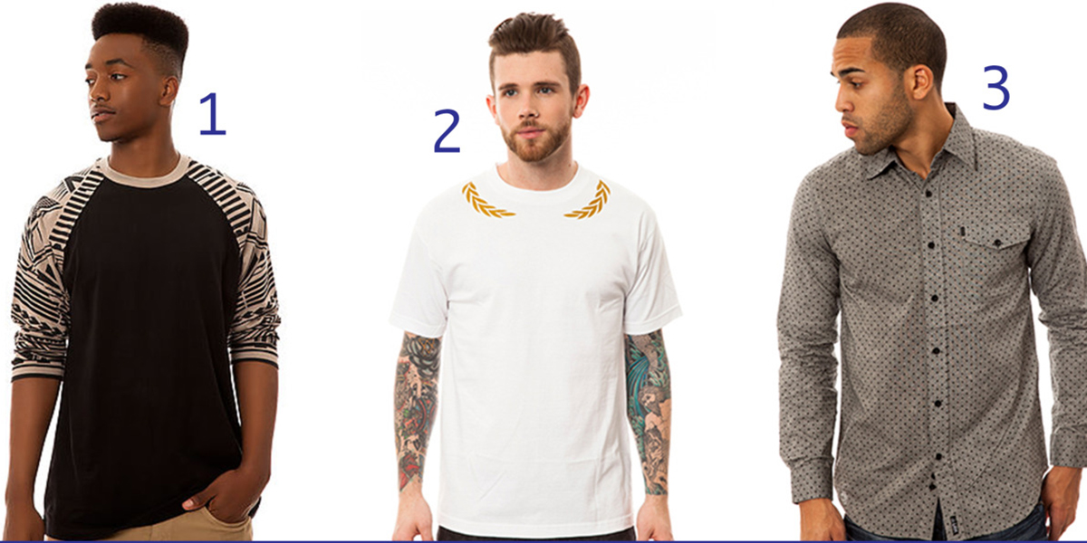 men's tshirts and buttonups