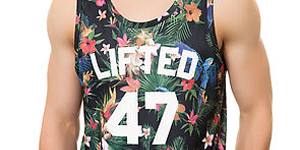 men's printed floral tshirts