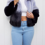 adidas superstar, purple fur, cropped top, mom jeans