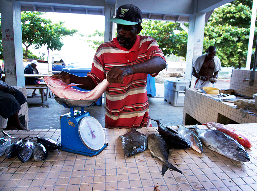 local-market-buying-fish-soufriere-saint-lucia