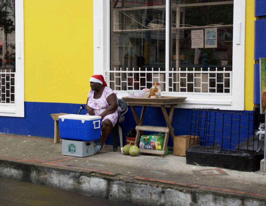 woman-selling-water-soufriere-saint-lucia