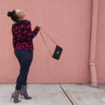 pink wall, queen of hearts off the shoulder sweater