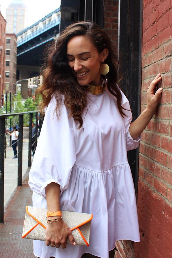 green-silk-pants-white-zara-poplin-dress-ootd-fashion-blogger-7