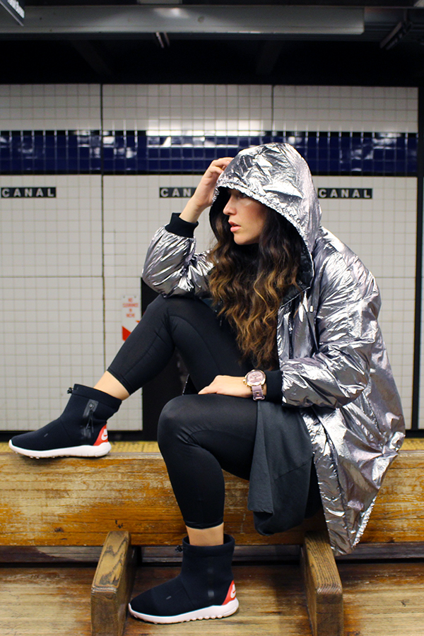 metllic-silver-jacket-nike-high-tops