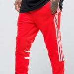 red adidas sweatpants
