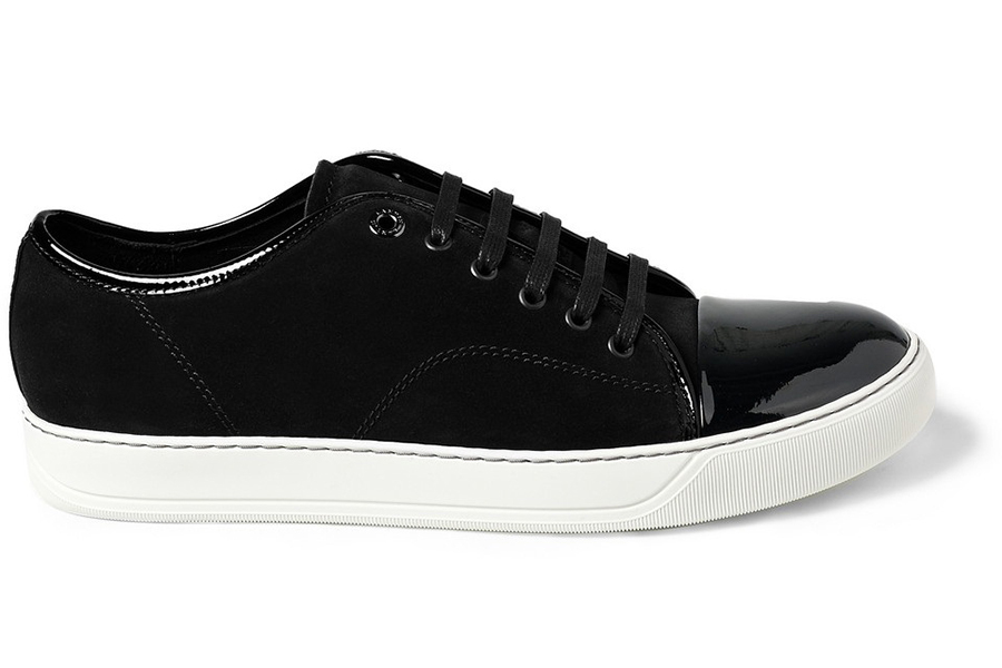 Lanvin-Mens-Black-Suede-and-Patent-Leather-Sneakers-1 copy
