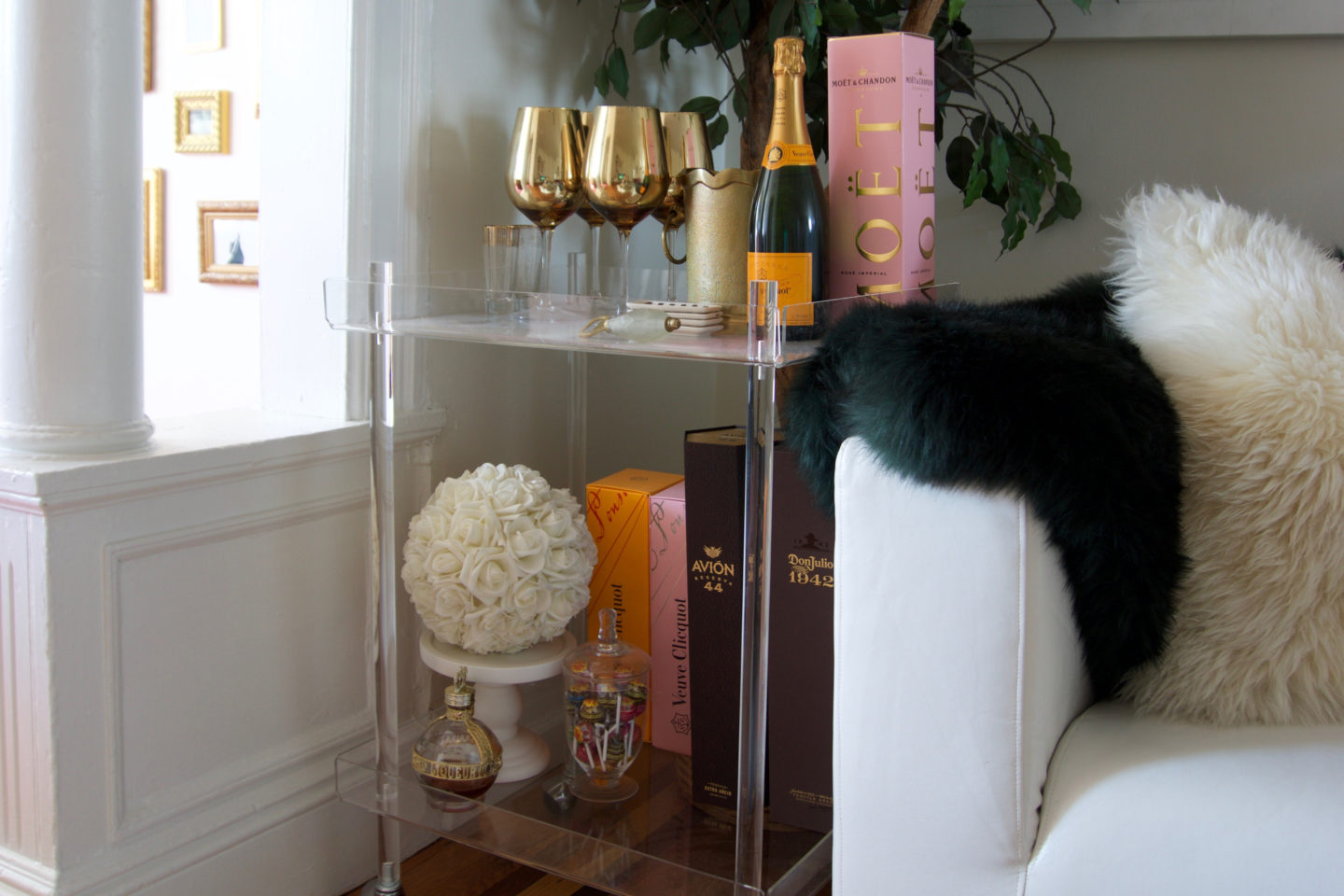 How to Style a Liquor or Coffee Bar Cart