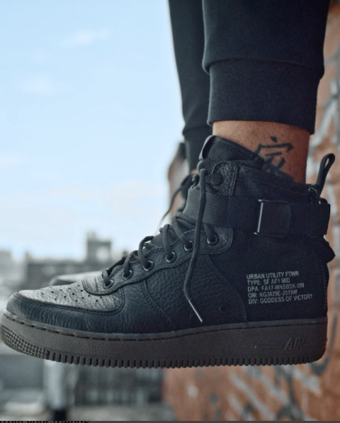 Black/Dark Hazel Nike SF Air Force 1 Mid